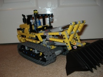Lego technic motorized excavator B model (modified)